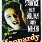 Jeopardy (1953) - Barbara Stanwyck  DVD