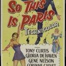 So This Is Paris (1954) - Tony Curtis  DVD