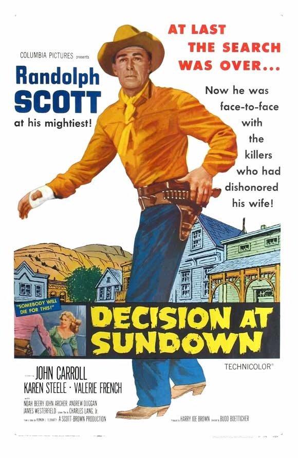 Decision At Sundown (1957) - Randolph Scott  DVD