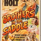Brothers In The Saddle (1949) - Tim Holt  DVD