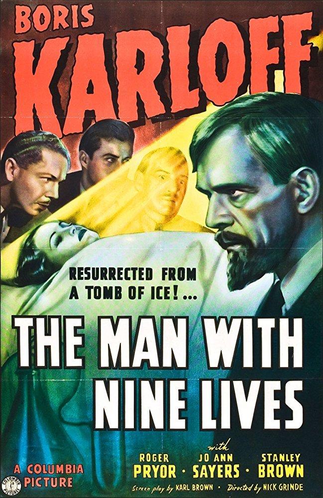 The Man With Nine Lives (1940) - Boris Karloff  DVD