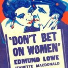 Don´t Bet On Women (1931) - Jeanette MacDonald  DVD