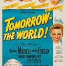 Tomorrow, The World ! (1944) - Fredric March  DVD