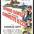 Corvette K-225 (1943) - Randolph Scott  DVD