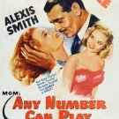Any Number Can Play (1949) - Clark Gable  DVD