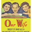 Our Wife (1941) - Melvyn Douglas  DVD