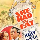 She Had To Eat (1937) - Jack Haley  DVD
