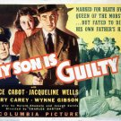 My Son Is Guilty (1939) - Bruce Cabot  DVD