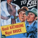 Sherlock Holmes : Dressed To Kill (1946) - Basil Rathbone Color Version DVD