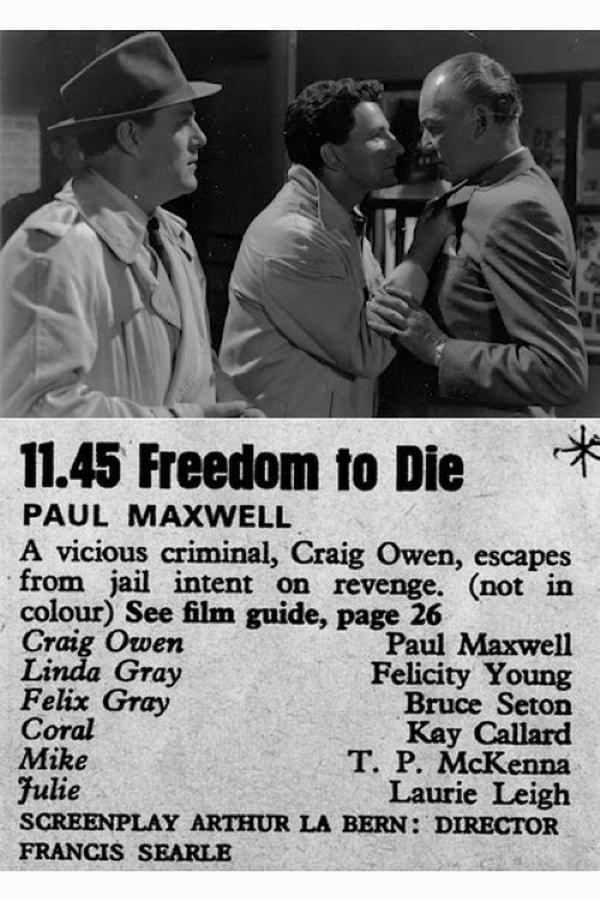 Freedom To Die (1961) - Paul Maxwell  DVD