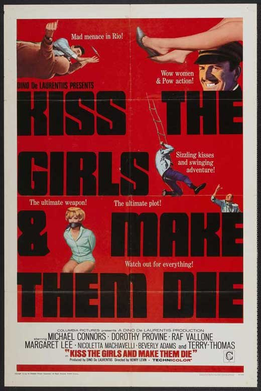 Kiss The Girls And Make Them Die (1966) - Mike Connors  DVD