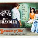 Because Of You (1952) - Jeff Chandler  DVD
