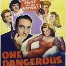 The Lone Wolf : One Dangerous Night (1943) - Warren William  DVD