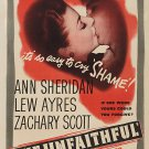 The Unfaithful (1947) - Ann Sheridan  DVD