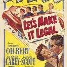 Let´s Make It Legal (1951) - Claudette Colbert  DVD