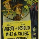 Abbott And Costello Meet The Killer, Boris Karloff (1949)  DVD