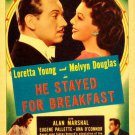 He Stayed For Breakfast (1940) - Loretta Young  DVD