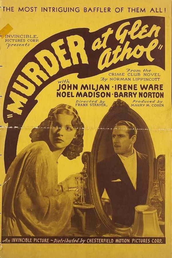 Murder At Glen Athol (1936) - John Miljan  DVD