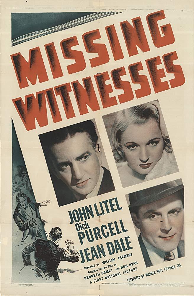 Missing Witnesses (1937) - John Litel  DVD