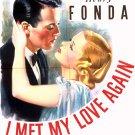 I Met My Love Again (1938) - Henry Fonda  DVD