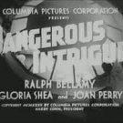 Dangerous Intrigue (1936) - Ralph Bellamy  DVD