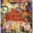 Five Golden Dragons (1967) - Robert Cummings  DVD