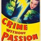 Crime Without Passion (1934) - Claude Rains  DVD