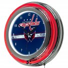 NHL-Washington Capitals-Chrome-Double-Rung-Neon-Clock