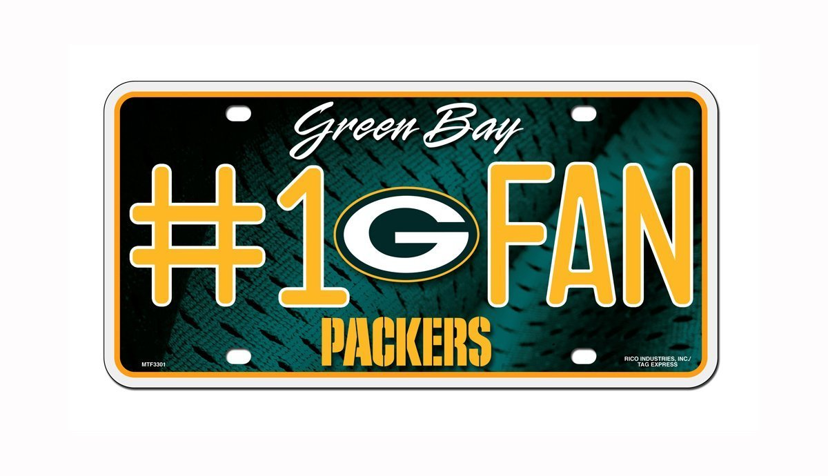 Green Bay Packers NFL Number One Fan License Plate