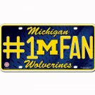 Michigan Wolverines NCAA Number One Fan License Plate