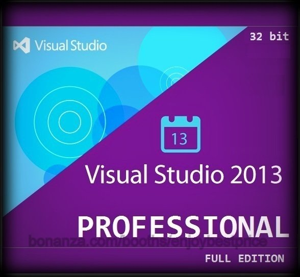 Visual Studio 2013 Professional 32 bit Full Edition Software Download Link & Key