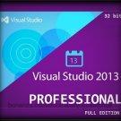 Visual Studio 2013 Professional 32 bit Full Edition Software Download Link & Key