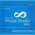 Visual Studio 2012 Professional 32 bit Full Edition Software Download Link & Key