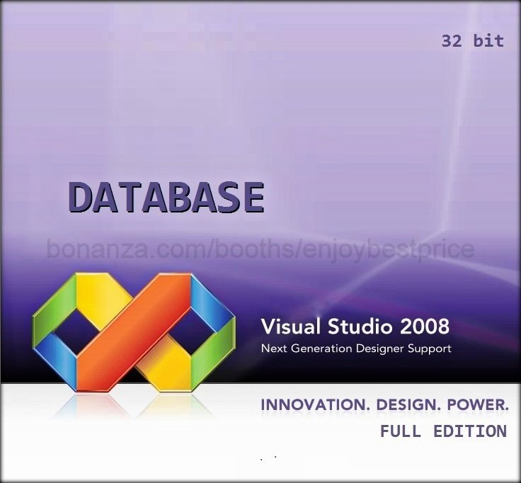 Visual Studio 2008 Database 32 bit Full Edition Software Download Link + KEY