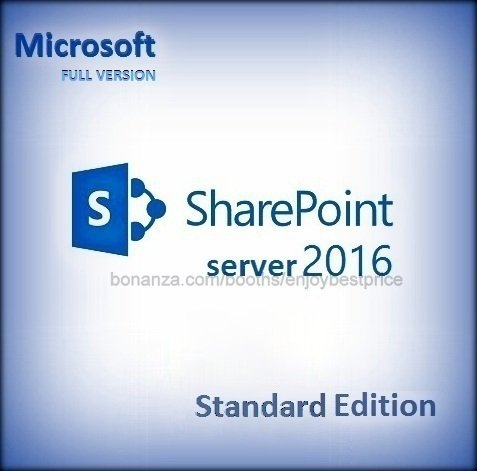 Sharepoint Server Standard Edition 2016 Lifetime Licence Key CAL + Software Pack