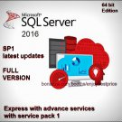 Microsoft SQL Server 2016 Express with Advanced Sevices SP1 64bit Full Download