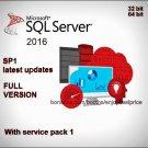 Microsoft SQL Server 2016 SP1 32 & 64 bit Lifetime FULL Editions Download Link