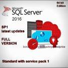 Microsoft SQL Server 2016 Standard SP1 64 bit Lifetime FULL Edition Key Software