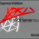 Microsoft SQL Server 2016 Express 64 bit Lifetime FULL Edition Download Link