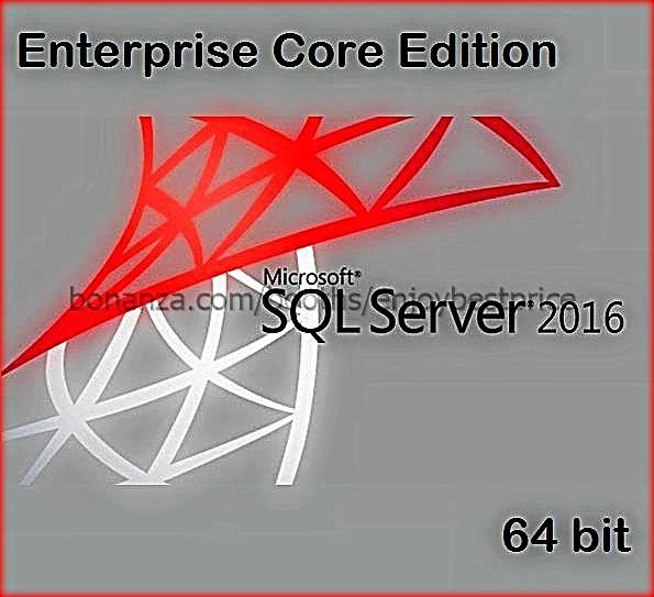 Microsoft SQL Server 2016 Enterprise Core 64 bit Lifetime Edition Key + Software