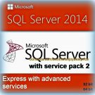 SQL Server 2014 Express with Advanced Services SP2 32 64 bit Lifetime Edition