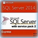 SQL Server 2014 Express SP2 Edition 32 64bit Lifetime Full Edition Software Pack