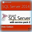 SQL Server 2014 Web SP2 Edition 32 64bit Lifetime Licence Key Full Software Pack