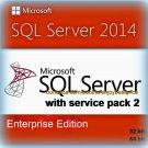 SQL Server 2014 Enterprise SP2 Edition 32 64bit Lifetime Key SERVER CAL Software
