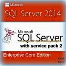 SQL Server 2014 Enterprise Core SP2 Full Edition 32 64 bit Licence Key Software