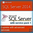 SQL Server 2014 Express with Advanced Services SP1 32 64 bit Lifetime Edition