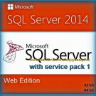 SQL Server 2014 Web SP1 Edition 32 64bit Lifetime Licence Key Full Software Pack