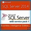 SQL Server 2014 Business Intelligence SP1 Full Edition 32 64 bit Key & Software