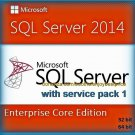SQL Server 2014 Enterprise Core SP1 Full Edition 32 64 bit Licence Key Software