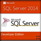 SQL Server 2014 Developer Edition 32 64 bit Lifetime Full Edition Software Pack